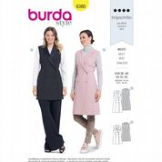 6380 Burda Pattern: Misses' Long Waistcoat